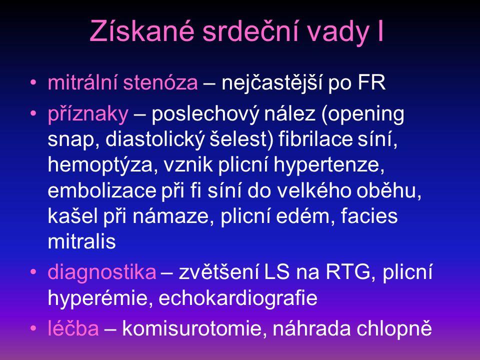 Mitrální stenóza - RTG