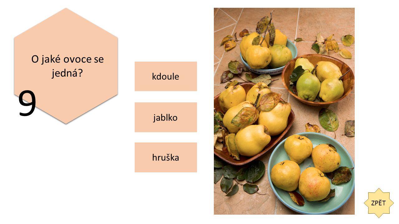 ZPĚT O jaké ovoce se jedná 9 jablko hruška kdoule