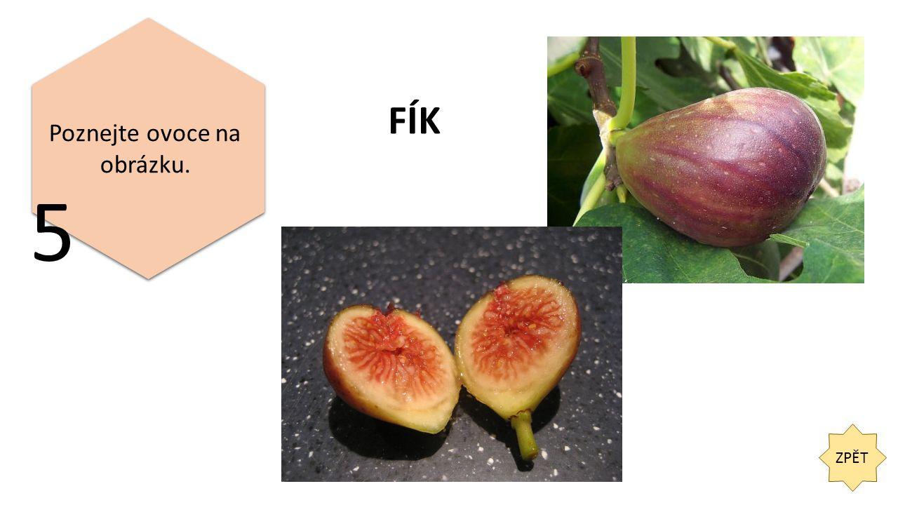 ZPĚT 5 Poznejte ovoce na obrázku. FÍK