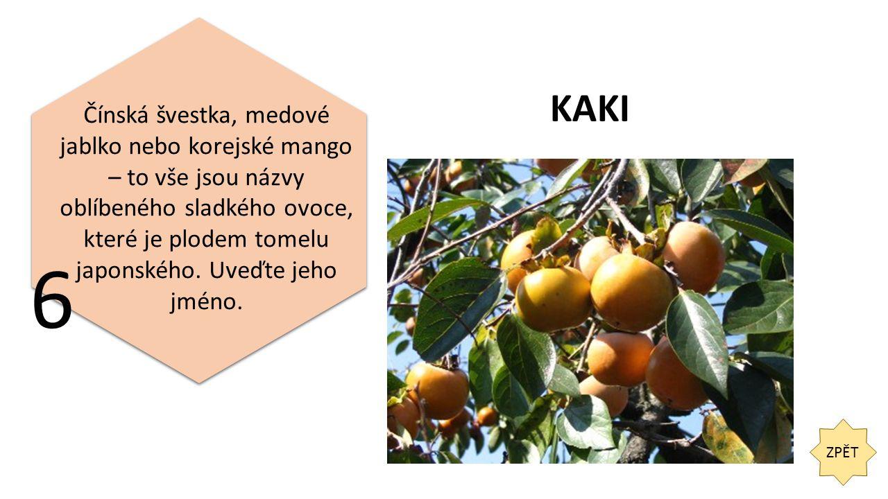 ZPĚT Poznejte ovoce na obrázku. 7 KARAMBOLA