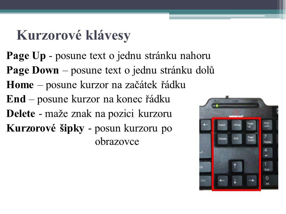 """Doplňkové klávesy - vypnutí počítače - hlasitost reproduktorů - multimediální klávesy - klávesy """"Windows"""