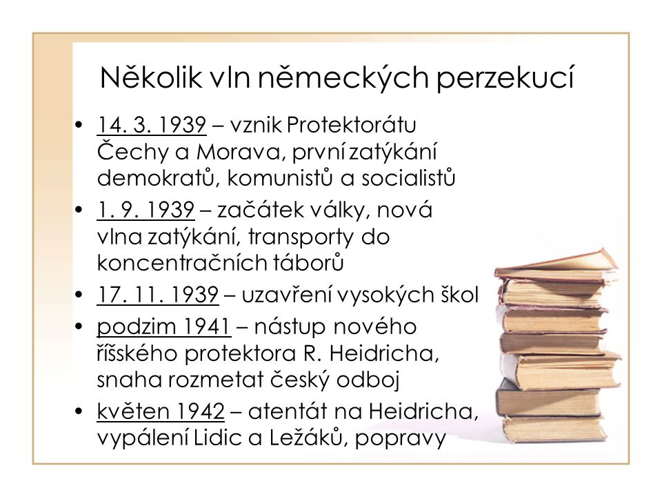 Vliv perzekucí na literaturu zastaveno vydávání některých novin a časopisů odchod řady spisovatelů do exilu (F.