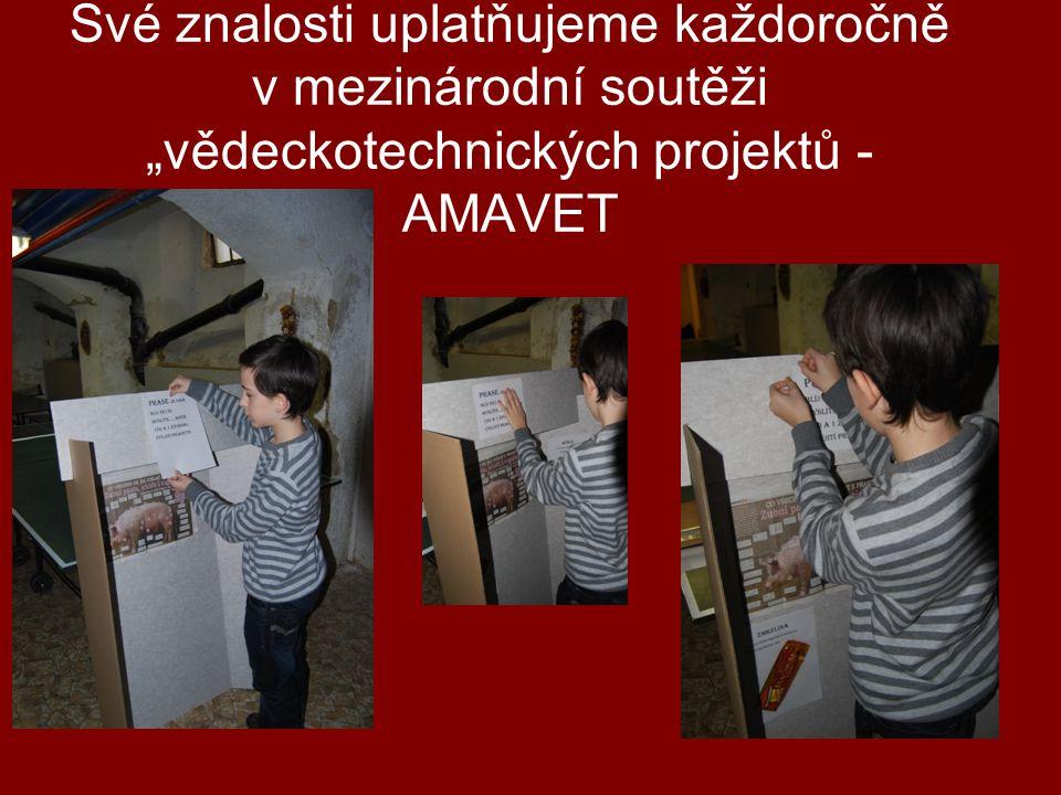 """Své znalosti uplatňujeme každoročně v mezinárodní soutěži """"vědeckotechnických projektů - AMAVET"""