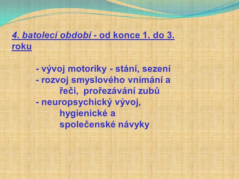 4. batolecí období - od konce 1. do 3.