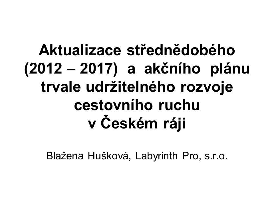 Aktualizace střednědobého (2012 – 2017) a akčního plánu trvale udržitelného rozvoje cestovního ruchu v Českém ráji Blažena Hušková, Labyrinth Pro, s.r.o.