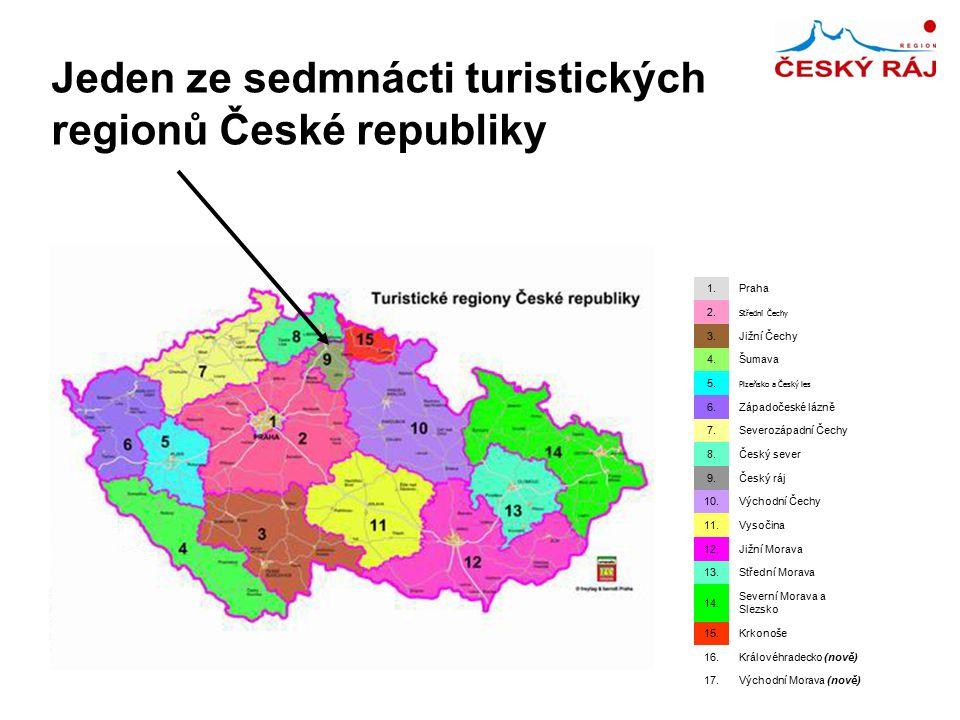 Jeden ze sedmnácti turistických regionů České republiky 1.Praha 2.