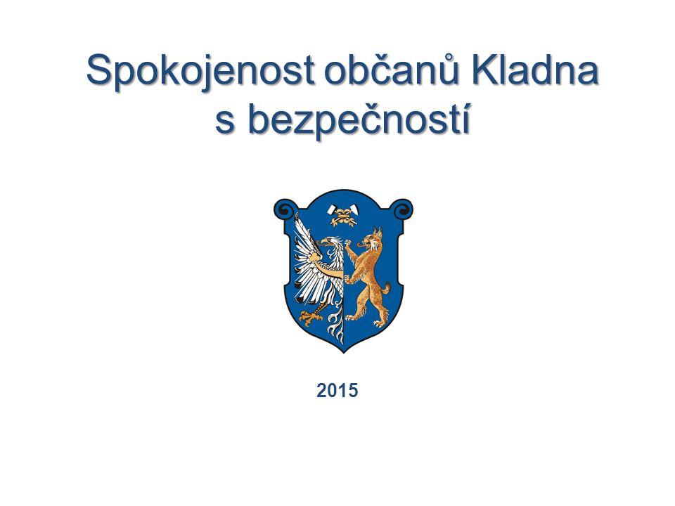 Spokojenost občanů Kladna s bezpečností 2015