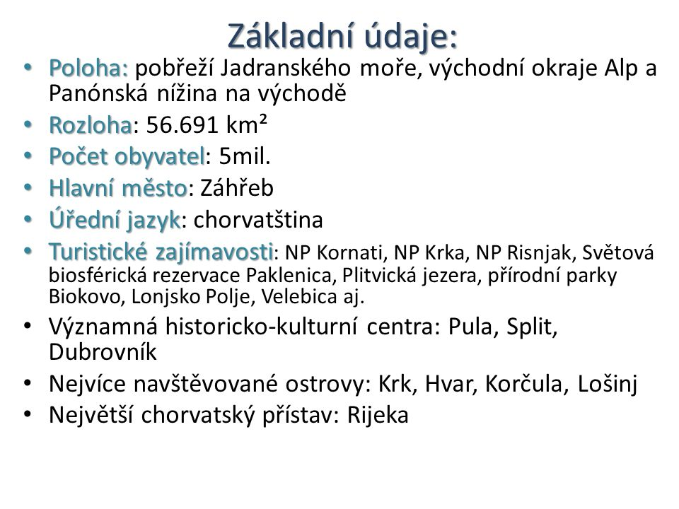 Vstupní brána na Makarskou riviéru: Střední Dalmácie