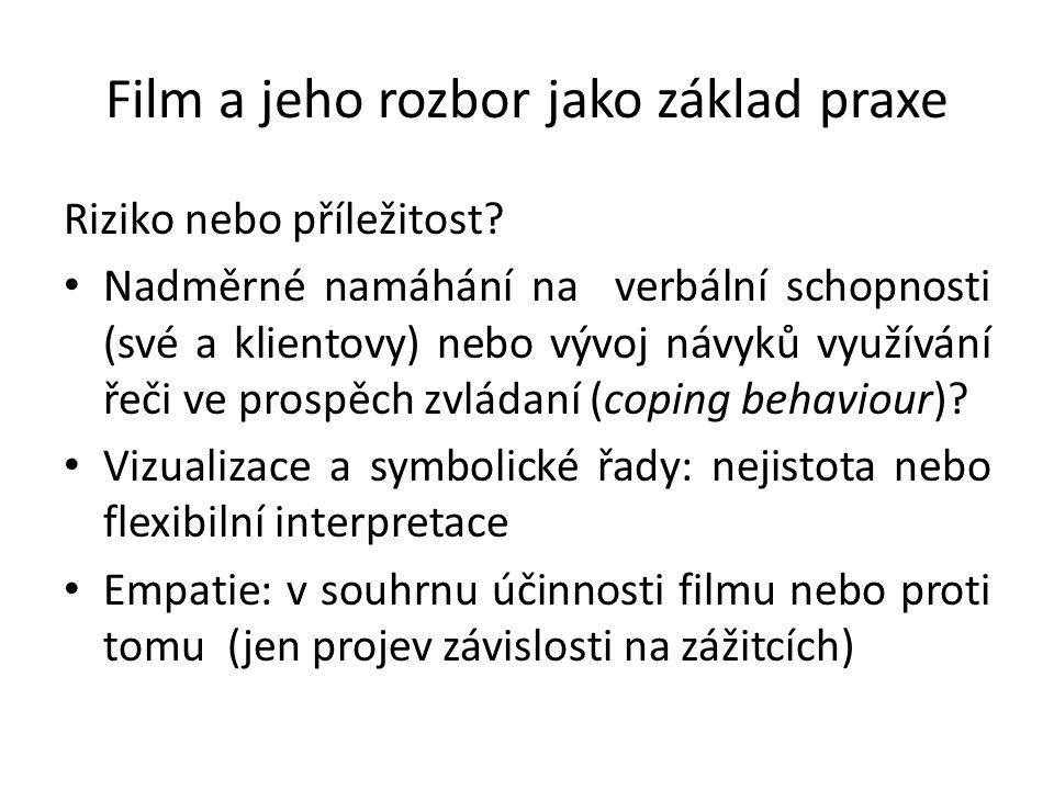 Film a jeho rozbor jako základ praxe Riziko nebo příležitost.
