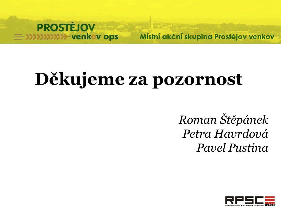Děkujeme za pozornost Roman Štěpánek Petra Havrdová Pavel Pustina