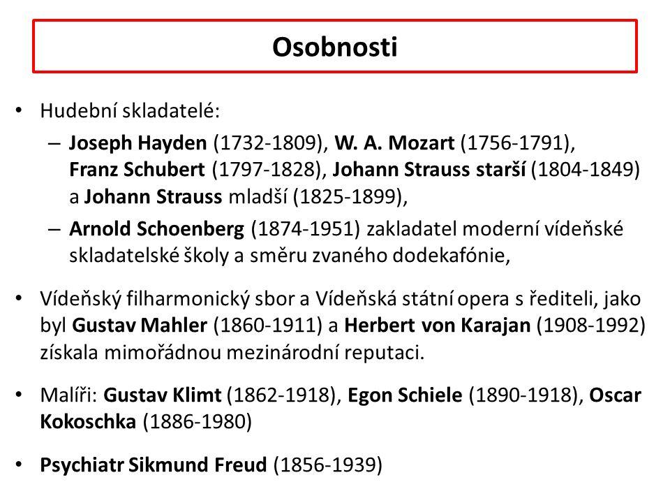 Osobnosti Hudební skladatelé: – Joseph Hayden (1732-1809), W.