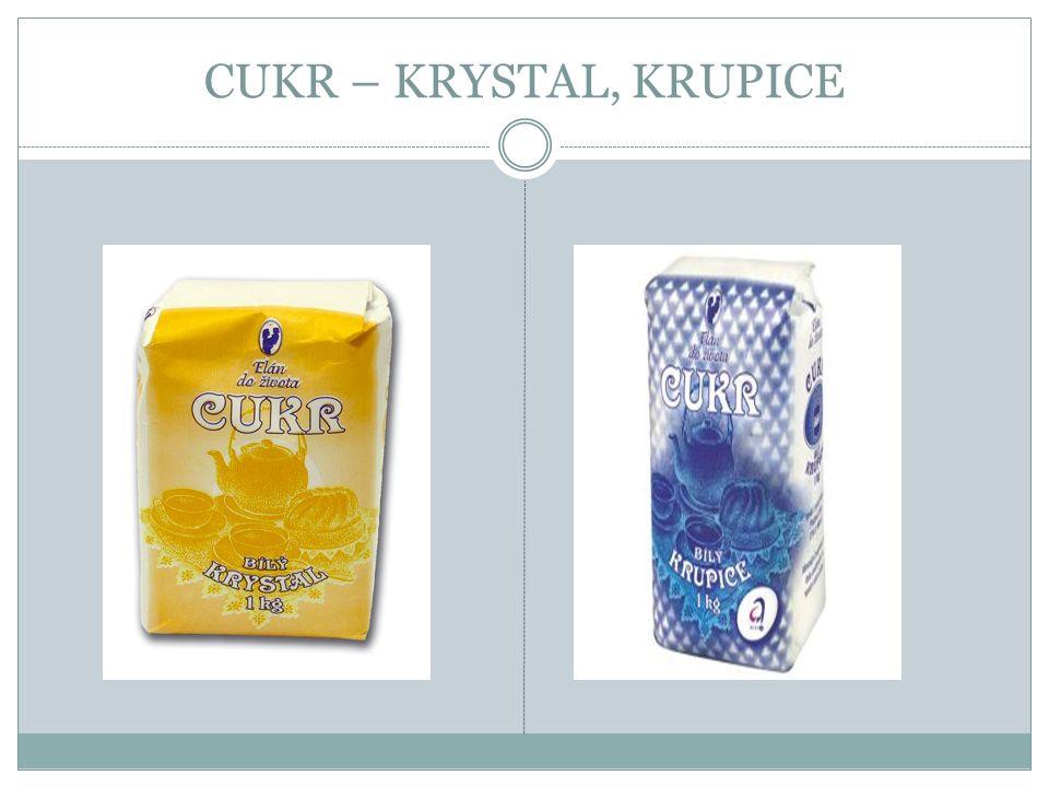 CUKR – KRYSTAL, KRUPICE