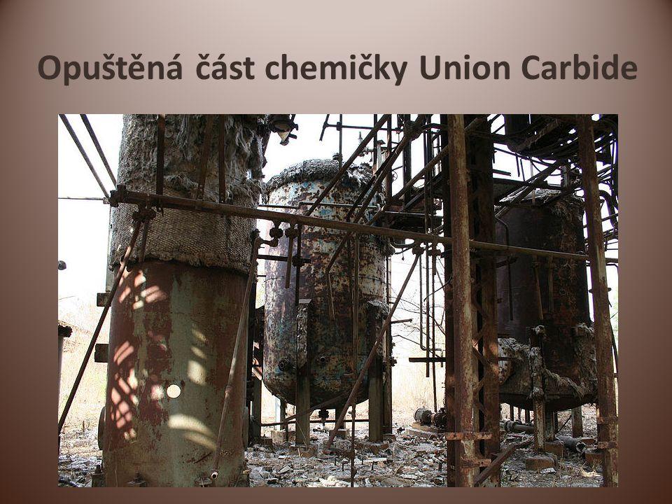 Opuštěná část chemičky Union Carbide