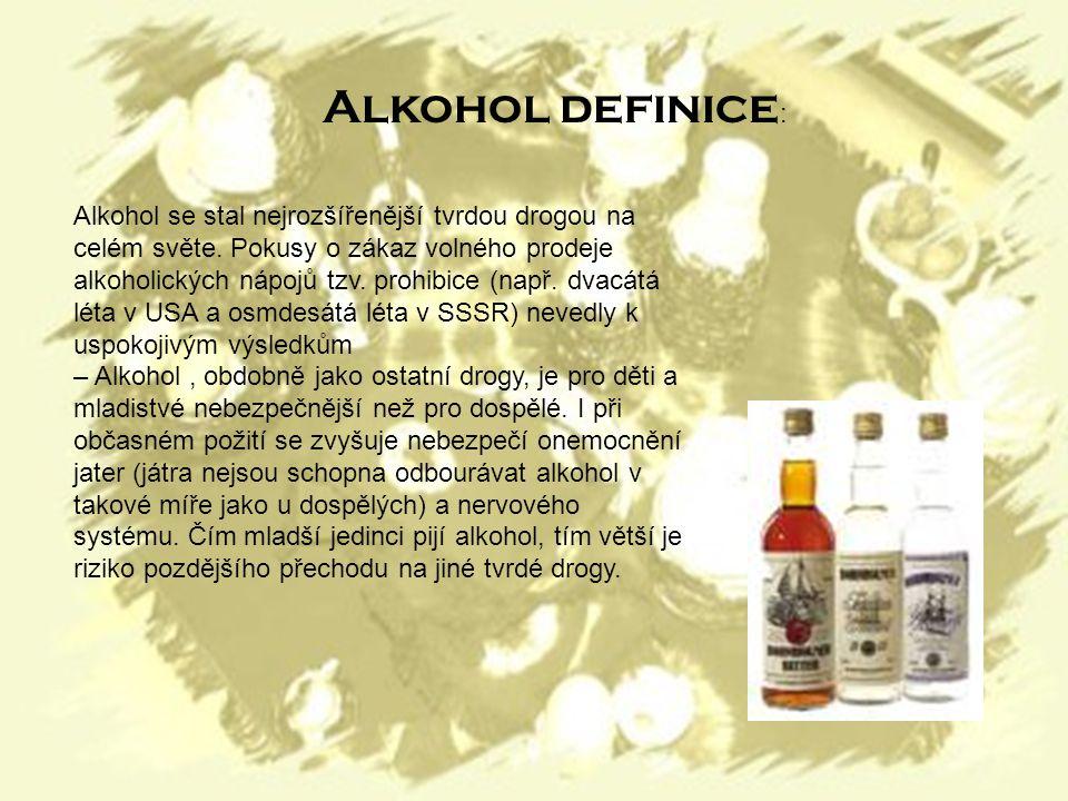 Alkohol se stal nejrozšířenější tvrdou drogou na celém světe.