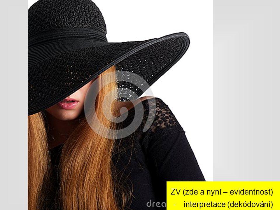 ZV (zde a nyní – evidentnost) -interpretace (dekódování)