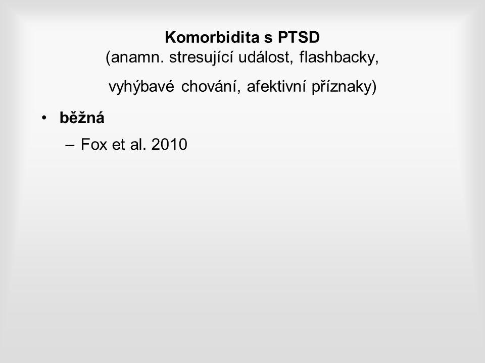 Komorbidita s PTSD (anamn.
