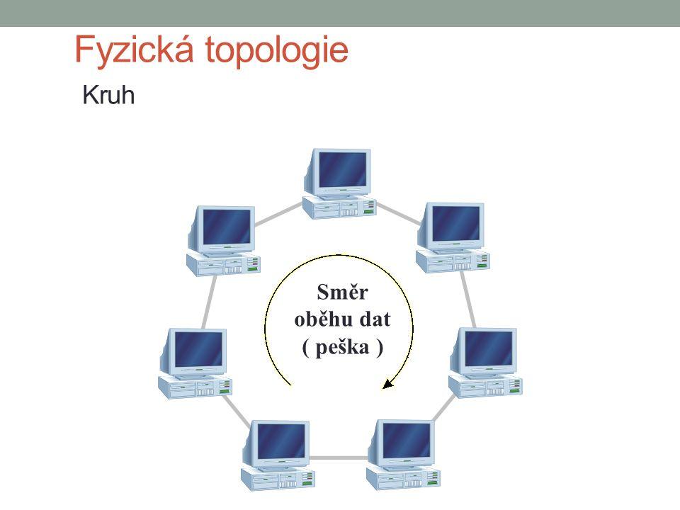 Fyzická topologie Kruh Směr oběhu dat ( peška )