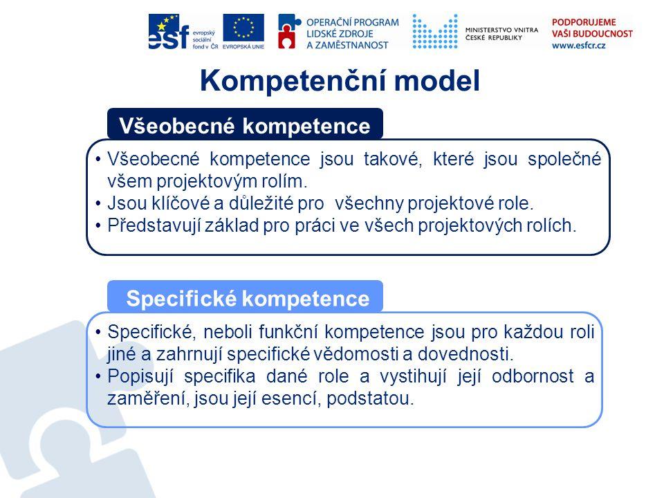 Všeobecné kompetence jsou takové, které jsou společné všem projektovým rolím. Jsou klíčové a důležité pro všechny projektové role. Představují základ