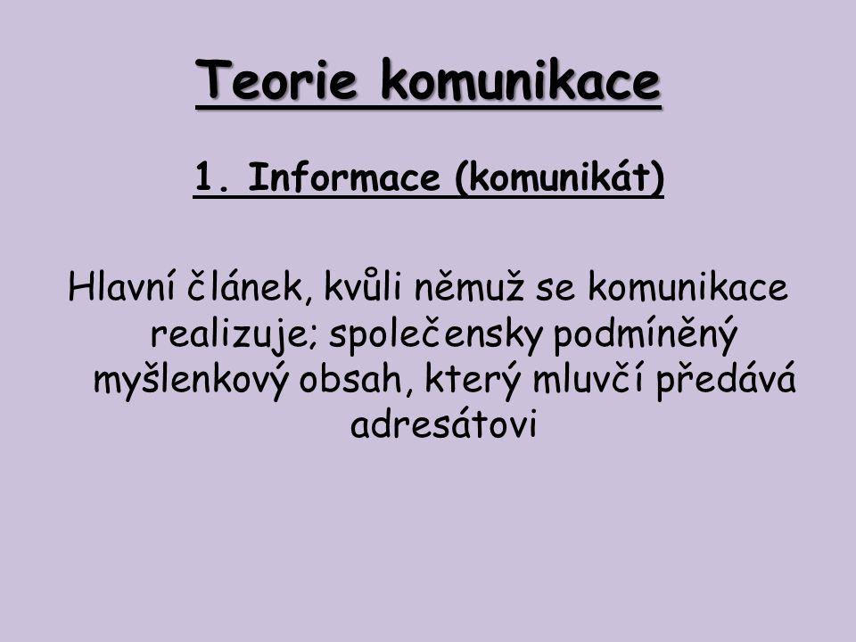 Teorie komunikace 2.