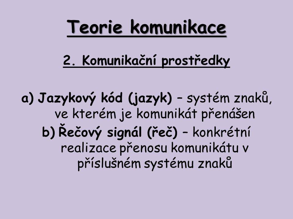 Teorie komunikace 3.