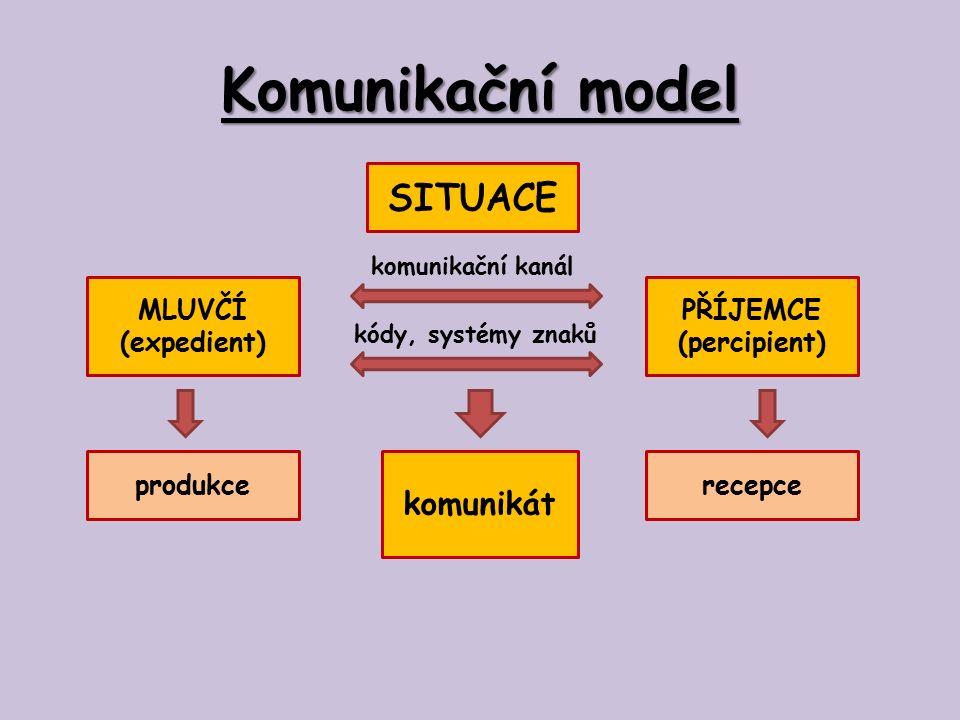 Teorie komunikace Podmínkou pro úspěšné předání informace je užívání stejného jazykového kódu a pravidel kódování a dekódování ze strany mluvčího i příjemce.