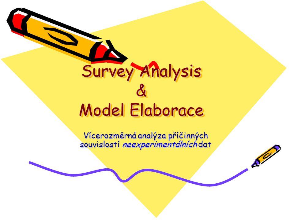 Survey Analysis & Model Elaborace Vícerozměrná analýza příčinných souvislostí neexperimentálních dat