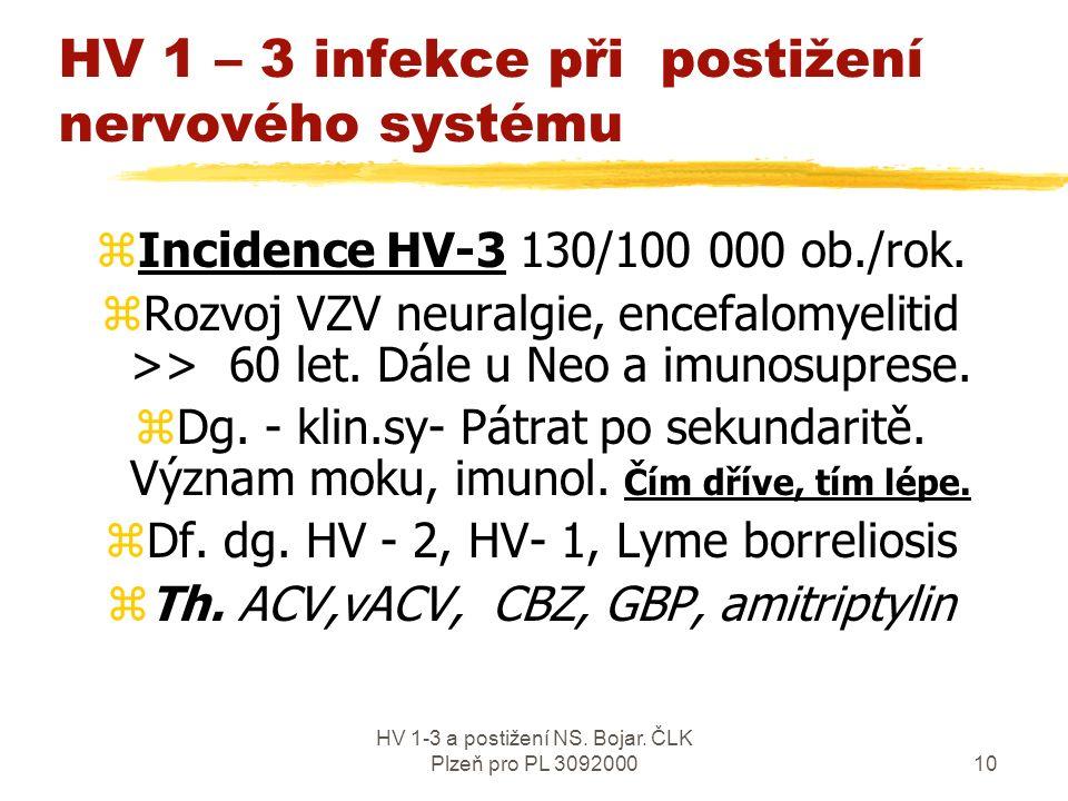 HV 1-3 a postižení NS. Bojar. ČLK Plzeň pro PL 30920009