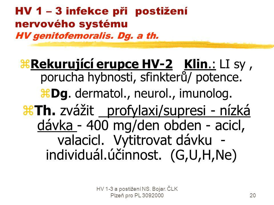 HV 1-3 a postižení NS. Bojar.