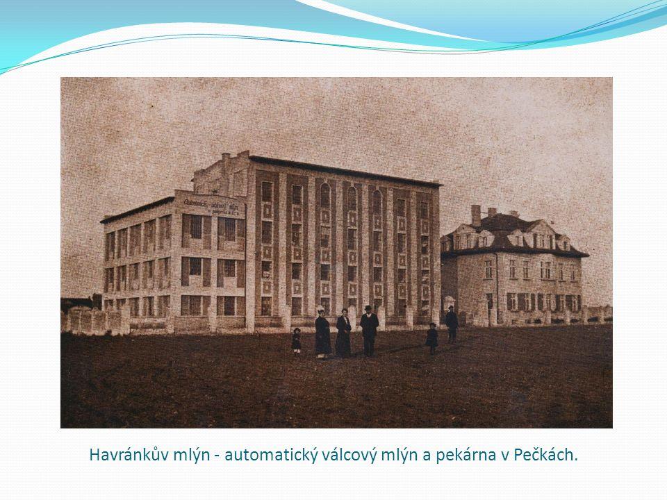 Havránkův mlýn - automatický válcový mlýn a pekárna v Pečkách.