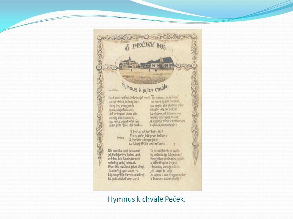 Hymnus k chvále Peček.