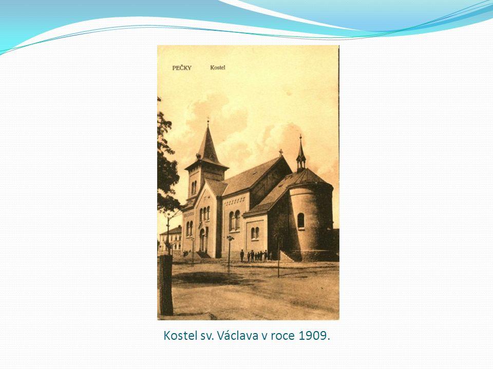 Kostel sv. Václava v roce 1909.