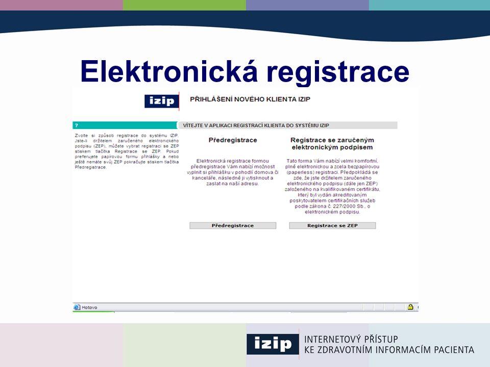 Elektronická registrace