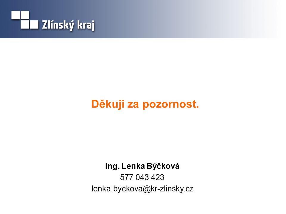 Děkuji za pozornost. Ing. Lenka Býčková 577 043 423 lenka.byckova@kr-zlinsky.cz