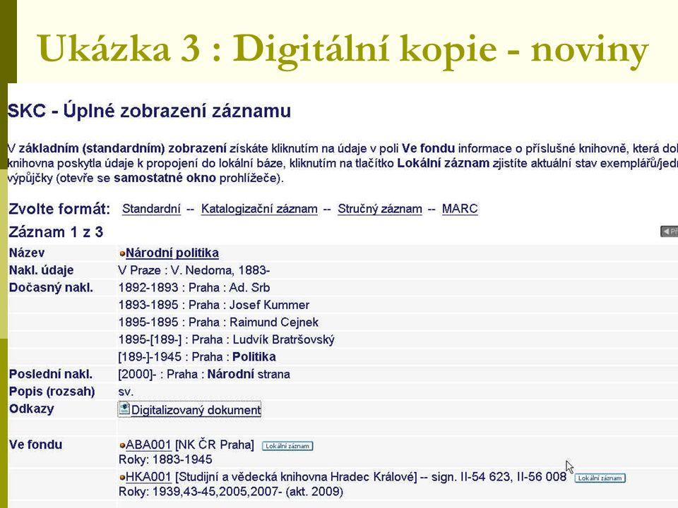 Ukázka 3 : Digitální kopie - noviny