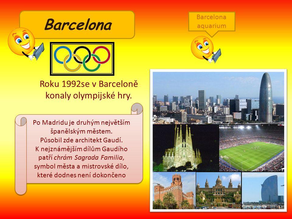 Roku 1992se v Barceloně konaly olympijské hry.