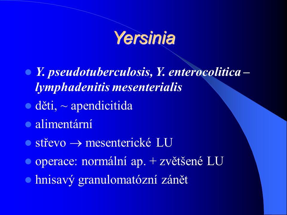 Yersinia Y. pseudotuberculosis, Y.