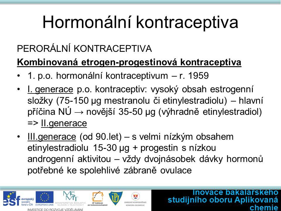 Hormonální kontraceptiva PERORÁLNÍ KONTRACEPTIVA Kombinovaná etrogen-progestinová kontraceptiva 1.