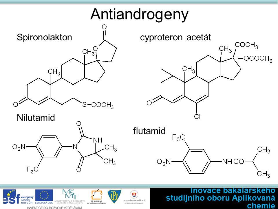 Antiandrogeny Spironolakton cyproteron acetát Nilutamid flutamid Inovace bakalářského studijního oboru Aplikovaná chemie