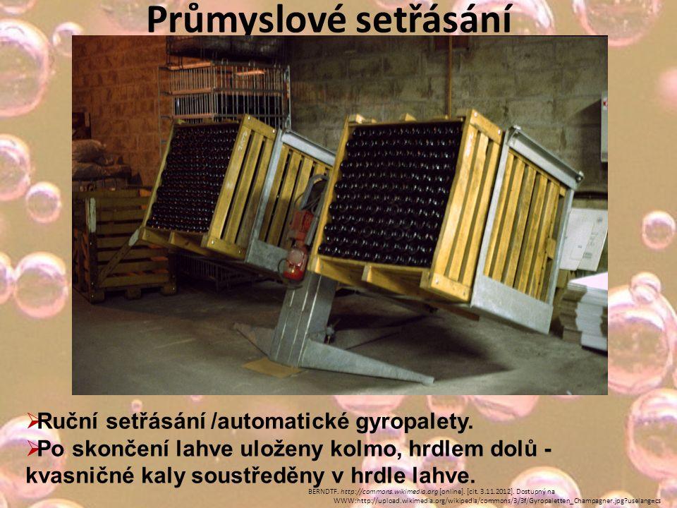 Průmyslové setřásání  Ruční setřásání /automatické gyropalety.