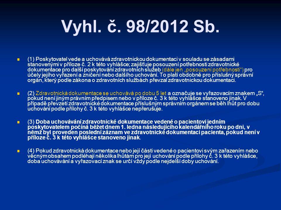Vyhl. č. 98/2012 Sb.