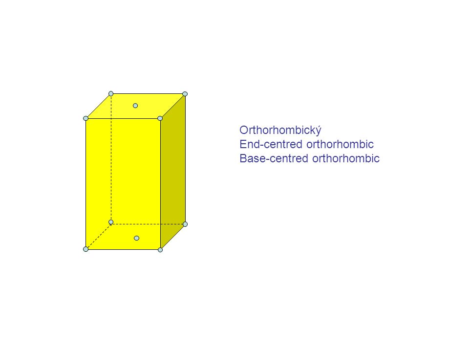 Orthorhombický End-centred orthorhombic Base-centred orthorhombic