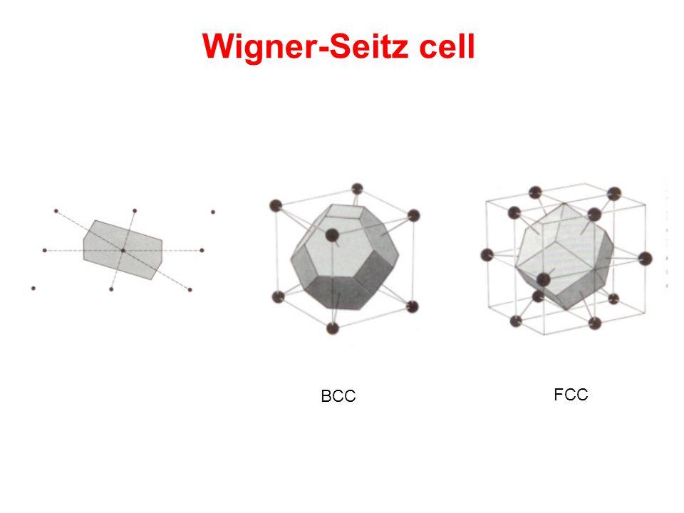 Wigner-Seitz cell BCC FCC