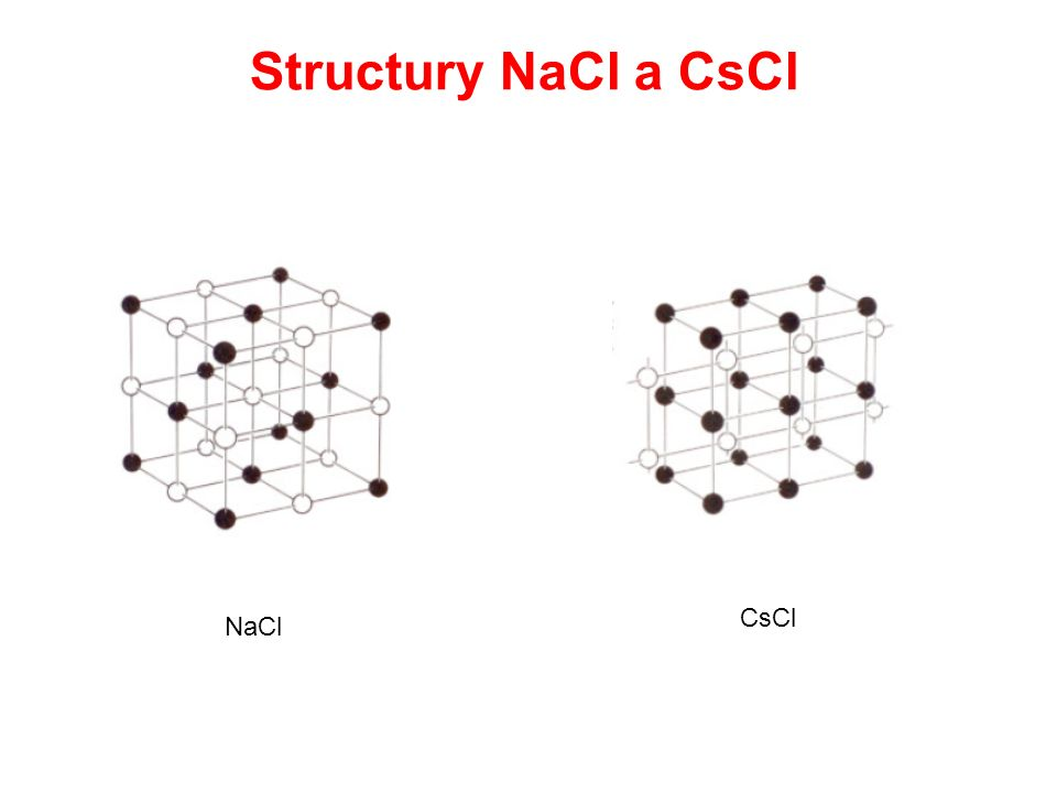 Structury NaCl a CsCl NaCl CsCl