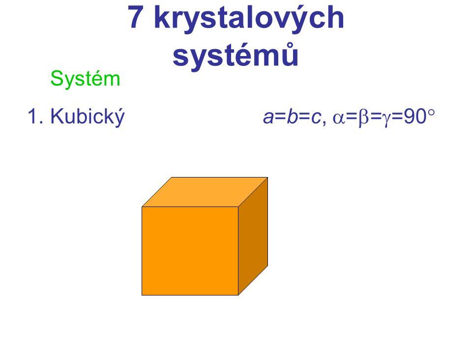 Systém 2.Tetragonálnía=b  c,  =  =  =90 