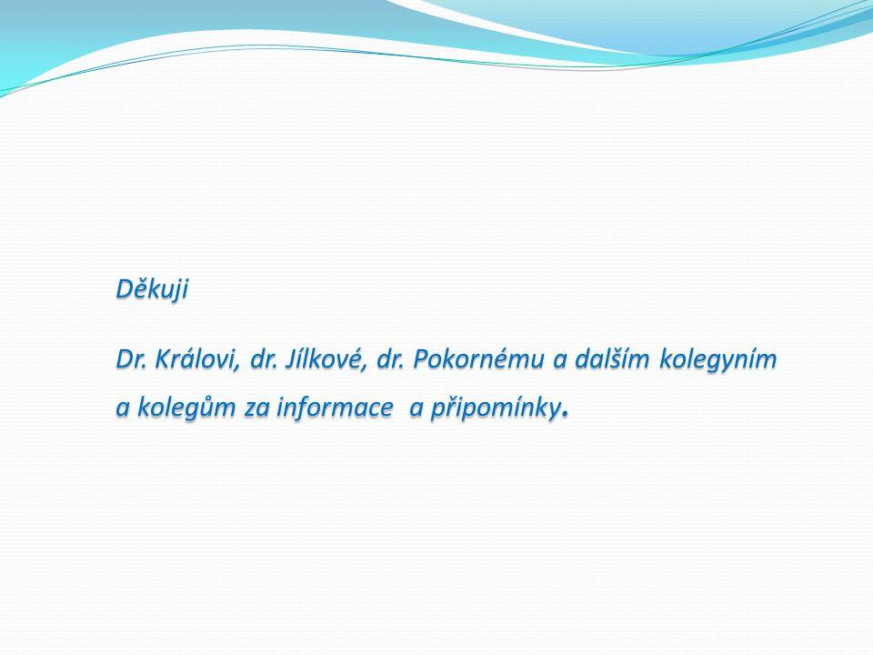 Děkuji Dr. Královi, dr. Jílkové, dr.