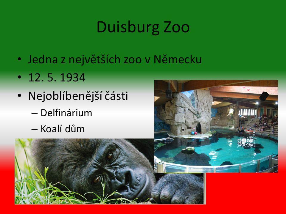 Duisburg Zoo Jedna z největších zoo v Německu 12. 5.