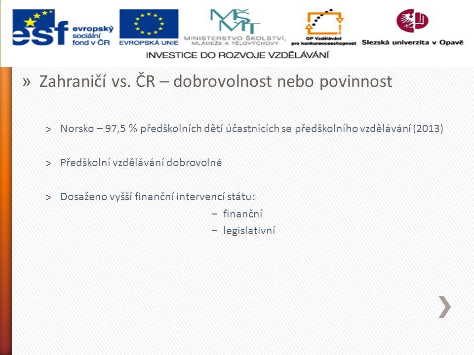 » Zahraničí vs.ČR – proč právě Norsko.