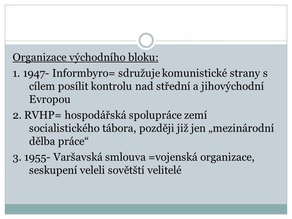 Organizace východního bloku: 1.