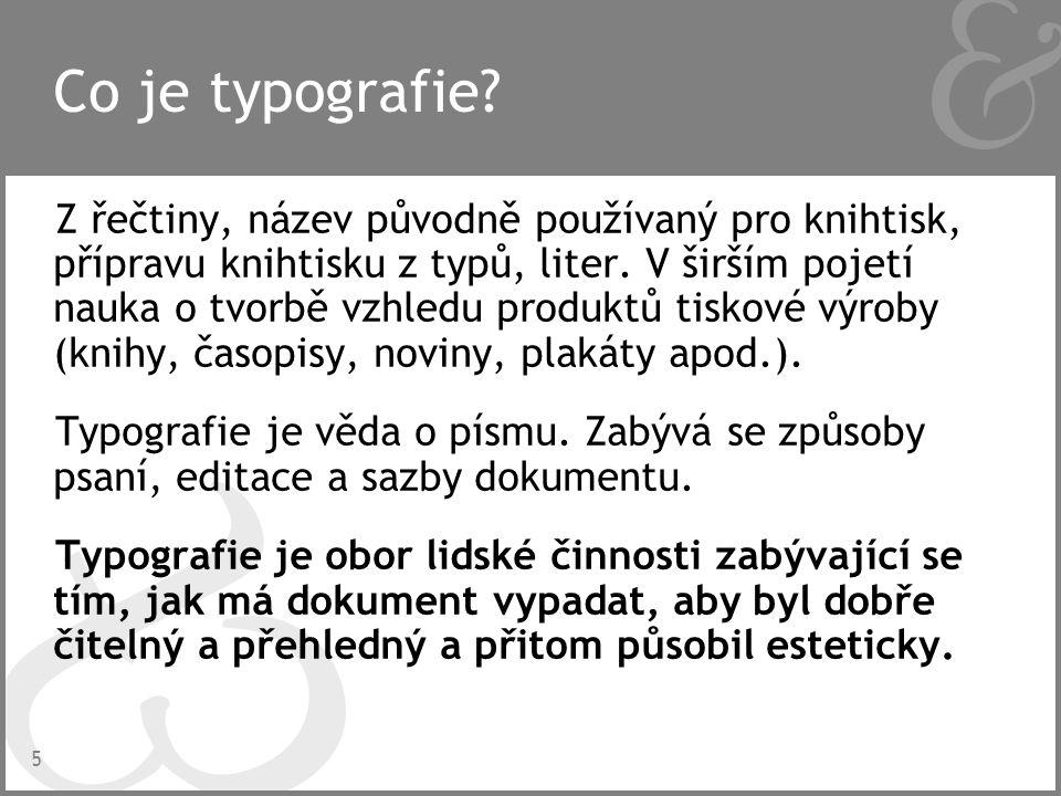 6 Proč se typografií zabývat.