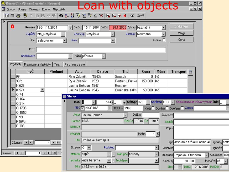 13 Loan with objects